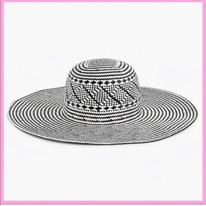 🆕 J. CREW | Geometric Print Straw Sun Hat